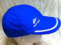 Бейсболка ярко синяя с белым кантом из плащёвки 55-57