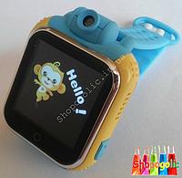 Детские умные часы android с GPS Smart Baby Watch Q200 с камерой 2 Mp (3G) Синий