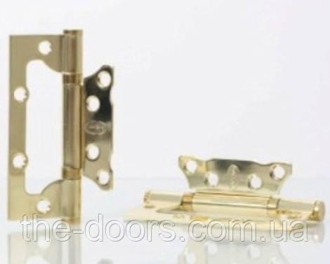 Петля не врезная NS100*63-2BB-РВ / золото