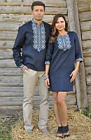 Вышиванка мужская и женское платье с вышивкой. Модель М01/1-293 и П07/1-293