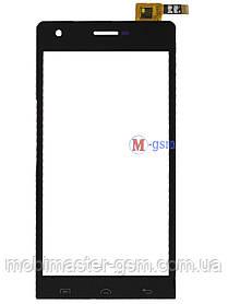 Сенсор (тачскрин) для телефона  Impression ImSmart C471, Doogee DG350 , S-TELL M610 черный