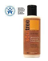"""Органический увлажняющий крем с абрикосовым маслом и диким медом для тела, TM """"Soultree"""""""