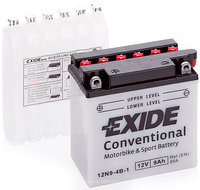 Аккумулятор мото EXIDE 12 V 9 Ah 85 A (+/-) 135x75x139 мм (12N9-4B-1)