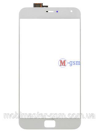 Сенсор (тачскрин) для телефона Meizu MX4 Pro белый, фото 2