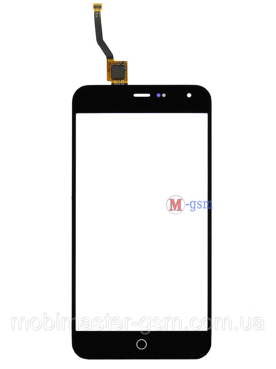 Сенсор (тачскрин) для телефона  Meizu M1 черный