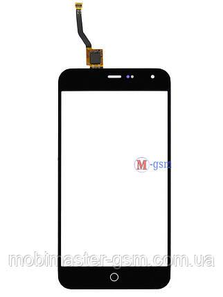 Сенсор (тачскрин) для телефона  Meizu M1 черный, фото 2