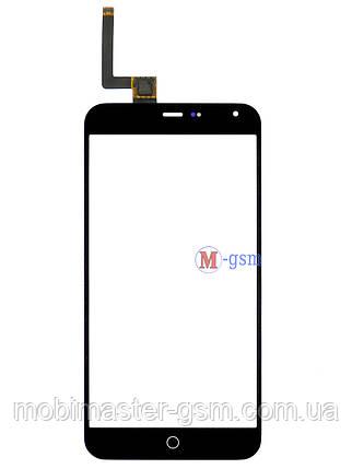 Сенсор (тачскрин) для телефона  Meizu M1 Note черный, фото 2