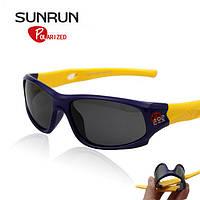Детские солнцезащитные очки SUNRUN UV400 для мальчика и девочки. Отличное качество. Доступная цена. Код: КГ977