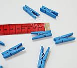 Декоративные прищепки тёмно-голубого цвета (35 мм)., фото 2