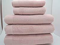 Полотенце махровое банное 85*150 микрокотон розовое Maison D'or