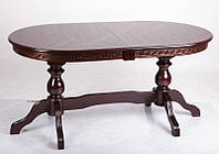 Стол большой обеденный ГЕРЦОГ+ из дерева бук овальный для дома и ресторана (160х90 см)