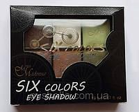 Компактные тени 6 цветов Miss Madonna (Мисс Мадонна)