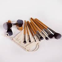 Набор кистей для макияжа 11 шт - Make Up Me ECO-11 Ситец - ECO-11