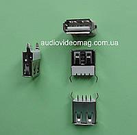 Гнездо USB A вертикальное, с креплениями на плату