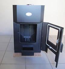 Печь Огнев ПОВ 150 С2 дверка со стеклом отопительная, фото 2
