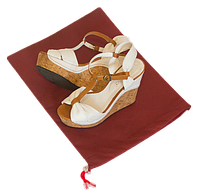 Мешок-пыльник для обуви с затяжкой, бордовый