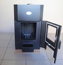 Печь отопительная Огнев ПОВ-200С2 дверка со стеклом, фото 3