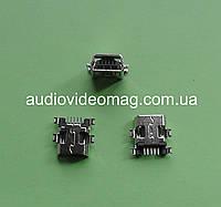 Гнездо mini USB 5pin с креплениями для монтажа