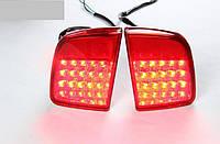 Фонари задние в бампер  светодиодные  красные  TOYOTA LAND CRUISER 200