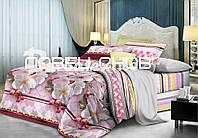 """Комплект ЕВРО постельного белья из ранфорса ТМ """"Ловец снов"""", Цветенье вишни"""