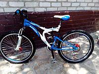 Спортивный велосипед 26 дюймов Azimut Blaster  127-G-FR/D-1(оборудование SHIMANO)бело-голубой ***