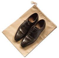 Мешок-пыльник для обуви с затяжкой, бежевый