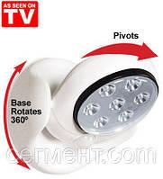 Настенный LED светильник Light Angel, подсветка Лайт Энжел (7 светодиодов)