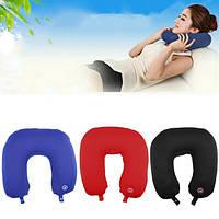 Массажная подушка-подголовник для путешествий Neck Massage Cushion