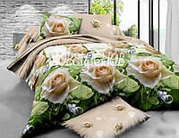 """Комплект полуторка постельного белья из ранфорса ТМ """"Ловец снов"""", Королева цветов"""