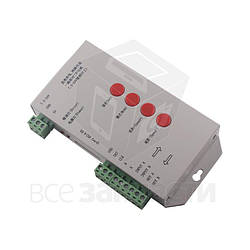 Контроллер RGB T-1000S  HTL-034 (с поддержкой DMX 512, WS2811, WS2801, WS2812B, 15 A, SD-карта)