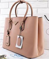 Женская сумка PRADA CUIR DOUBLE BAG BIEGE (6932), фото 1