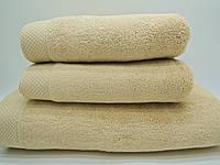 Полотенце махровое банное 85*150 микрокотон песочное Maison D'or