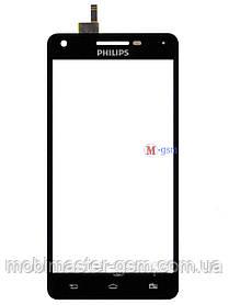 Сенсор (тачскрин) для телефона Philips Xenium V377 черный