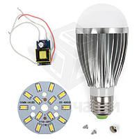 Комплект для сборки лампы, SQ-Q03, 5730, 7 Вт, E27, CW (холодный), диммируемый