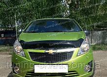 Дефлектор Шевроле Спарк 3 хэтчбек (мухобойка на капот Chevrolet Spark 3 Hatchback)