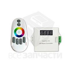 Светомузыкальный контроллер с радиопультом Colorful X1 (WS2811, 12 В)