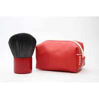 Кисть кабуки в сумочке - Make Up Me KAB Красная  - KAB-RED