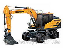 HW140  · Двигатель Cummins QSB 6.7 · Ковш 0,58 (0,76) (㎥ (ярда3)) · Рабочий вес 13880 (30600) (кг (фунт)) · Эталонная модель HW140