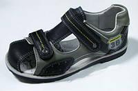 Ортопедические босоножки для мальчиков закрытые внутри кожаные р.32 удобная профилактическая обувь