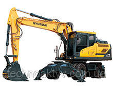 HW160  · Двигатель Cummins QSB 6.7 · Ковш 0,39 (0,51) (㎥ (ярда3)) · Рабочий вес 17100 (37700) (кг (фунт)) · Эталонная модель HW160
