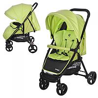 Детская прогулочная коляска Bambi Зеленая  PREGO с поворотными колесами