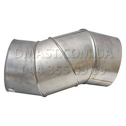 Коліно для димоходу універсальне 0,8 мм ф220 0-90гр з нержавіючої сталі AISI 304