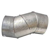 Колено для дымохода регулируемое 0,8мм ф250 0-90гр из нержавеющей стали AISI 304