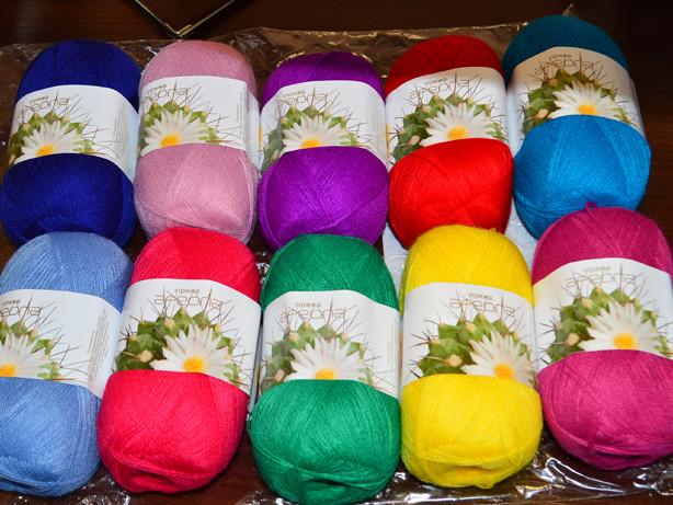 нитки для вязания купить почтой недорого