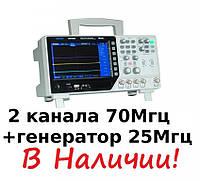 70Mhz осциллограф цифровой + Генератор 25Mhz,  2х канальный Hantek DSO4072S для сервисного центра мастерской