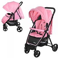 Прогулочная коляска Bambi Розовая  PREGO с колесами Eva Foam