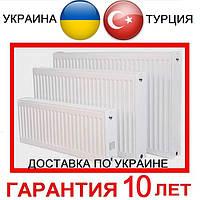Стальные Радиаторы УКРАИНА и ТУРЦИЯ. Тип 11, 22, 33. Высота 300 и 500. Подключение Боковое и Нижнее