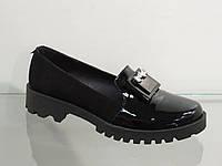 Стильные женские туфли лак-замша натуральная