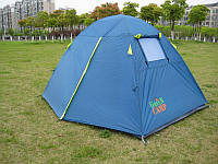 Походная Палатка 2-х местная Green Camp 1001B (синяя)