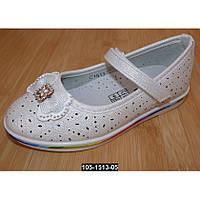 Нарядные, туфли для девочки, 28 размер, кожаная стелька, супинатор, праздничные туфельки на выпускной